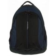 3 rekeszes fekete-kék textil hátizsák Adventurer