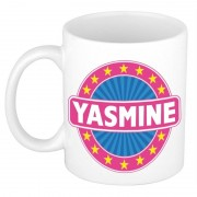 Bellatio Decorations Voornaam Yasmine koffie/thee mok of beker - Naam mokken