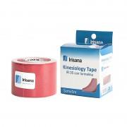 Kinesiology Tape Irisana com Turmalina Fita Vermelho 5cmx5m