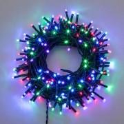Luci Da Esterno Catena 53 m, 750 Mini LED Multicolor, controller con 8 giochi di luce, cavo Verde, da esterno, non prolungabile