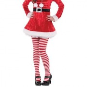 Amscan Fun-Filled Christmas & Holiday Party Candy Stripe Tights Red/White Child Size