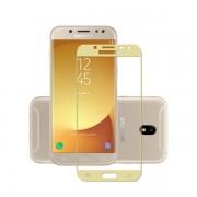 Folie sticla securizata fullsize pentru Samsung J5 2017 SM-J530F (versiune Europa), auriu