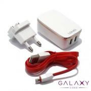 Kucni punjac LDNIO A2204 2xUSB 5V/2.4A za iPhone 5G/5S/SE/5S/6/6 PLUS belo-crven