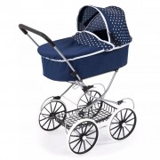 Bayer Doll's Pram Classic Deluxe Blue 12151AA