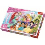 Puzzle clasic pentru copii - Printesele Disney cu prieteni 160 piese