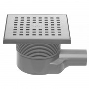 Easydrain Aqua quattro vloerput abs 15 x 15 cm. horizontaal