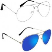Sulit Aviator, Wayfarer, Cat-eye Sunglasses(Clear, Blue)