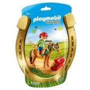 Комплект Плеймобил - Ездач с пони с цветя, Playmobil, 2900181