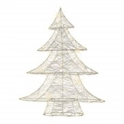 For indoors - silver wire tree with micro LEDs