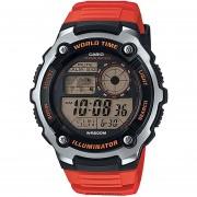 Reloj CASIO AE-2100W-4AVCF World Time Collection Digital ILUMNATOR-Naranja