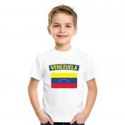 Bellatio Decorations T-shirt Venezolaanse vlag wit kinderen L (146-152) - Feestshirts