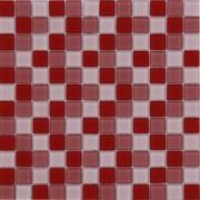 Maxwhite ASHS038 Mozaika skleněná červená růžová světlá 29,7x29,7cm sklo