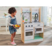 Bucatarie copii Let's Cook Play Kitchen - Natural - KidKraft