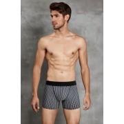 Doreanse Stripe Boxer Brief Underwear Black 1866