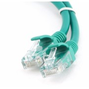 Cablu UTP Patch cord cat 5E, conectori 2x 8P8C, lungime cablu: 3m, bulk, Verde, GEMBIRD (PP12-3M/G)