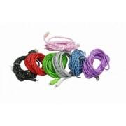 James Zhou USB lightning-kabel i nylontyg till iphone 5, 6, 7, 8, X - 1m (1m, Grön)