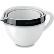 KitchenAid set posuda za mješanje, 3-dijelni, crno-bijeli