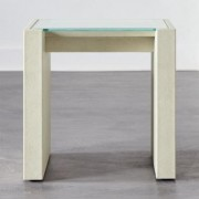 Grace Shagreen Side Table by CB2