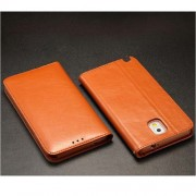 Кралска серия калъф от естествена кожа за Samsung Galaxy Note3 N9000 N9002 N9005 - кафяв
