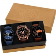 KDS Combo Of Three Analog Watches For Men And Boys