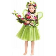 Fancy Me Disfraz de hada de hada verde bosque italiano para niñas de 3 a 10 años (4 años)