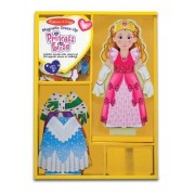 Princess Elise - Magnetic Dress Up Wooden Doll & Stand + FREE Melissa & Doug Scratch Art Mini-Pad Bu