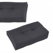 [en.casa]® Paletový nábytek - rohový polštář - tmavě šedý