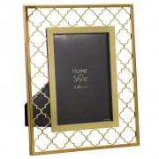 Maisons du Monde Glass Photo Frame with Gold Motifs 10 x 15 cm