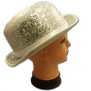 Fényes chaplin kalap, szövet