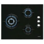 Encimera Cristalgas Cata CI6021BK, negro, 3 fuegos