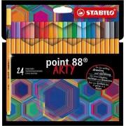 Fineliner STABILO point 88 - etui met 24 kleuren
