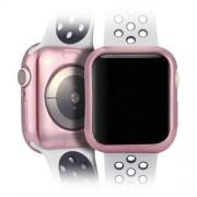 DUX DUCIS 2x Gel telefontok hátlap tok TPU Cover Apple Watch 4 40mm rózsaszín és átlátszó