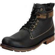 FAUSTO Black Men's High Ankle Boots