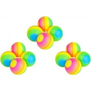 """Novelty Treasures AWESOME Set of 12 RAINBOW Bouncy Balls (3"""") in BRIGHT COLORS Birthday Party Favor Goody Bag Toys"""