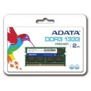 A-Data ADATA 2GB 1333MHz DDR3 CL9 SODIMM 1.5 V - Retail