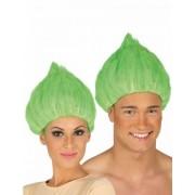 Peruca troll verde adulto