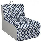 Kangaroo Trading Tween Kids Chaise Lounge Color: Blue/White/Gray