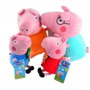 Set 4 Piezas De Peluches De Peppa Pig 360DSC-Rosado