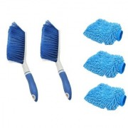 Kurvz 2 Carpet Brush Microfibre Wet and Dry Brush with 3 Microfiber Glove