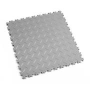 Šedá vinylová plastová dlaždice Light 2050 (diamant), Fortelock - délka 51 cm, šířka 51 cm a výška 0,7 cm