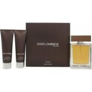 Dolce & Gabbana The One Gift Set 100ml EDT + 50ml Aftershave Balm + 50ml Duschgel