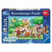 Puzzle 2 in 1 - Cei 7 pitici, 48 piese