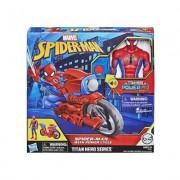 Spider-Man Titan Hero FX Power Cycle med figur