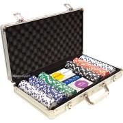 Алуминиево куфарче с 300 покер чипа без номинали