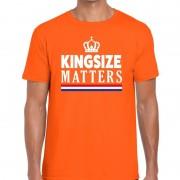 Bellatio Decorations Kingsize matters t-shirt oranje voor heren