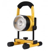 30W Hordozható Led reflektor akkumulátoros Zoom fehér/színes led kerek - 904