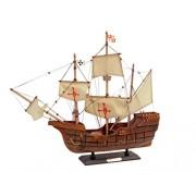 Hampton Nautical Wooden Santa Maria Tall Model Ship