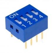 Life Dip Switch 4 Poli Per Circuiti Stampati Passo 2,54 Mm Tcs
