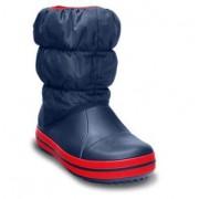 Cizme iarna Crocs copii b albastru navy-rosu