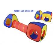 3v1 kvalitní dětský stan + tunel iglů úkryt domek